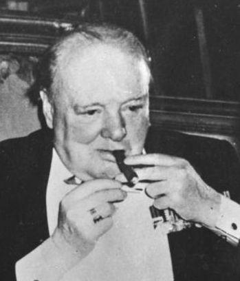 Churchill with cigar